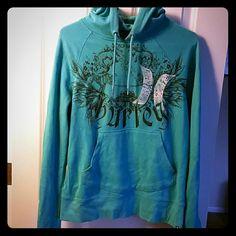Hurley hoodie Turquoise light weight hoodie fitted style Hurley Tops Sweatshirts & Hoodies