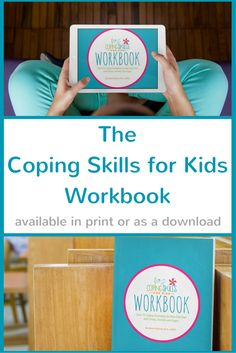 The Coping Skills for Kids Workbook is designed to help kids learn and practice coping skills to deal with anxiety, stress and anger.  The workbook has over 75 coping skills for kids to try with more than 20 printable worksheets. Visit copingskillsforkids.com to learn more