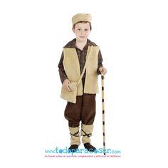 Traje pastor. incluye chaleco, gorro, bolsa, pantalones y polainas. Disponible en 6 tallas desde 1 año hasta 13