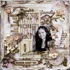 Happy New Year!!!! Today I am going to share with you, a card I made & some LO's I did for the year 2014,using the Beautiful Maja Design Col...