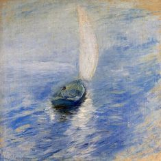 John Henry Twachtman - Sailing in the Mist (1895)