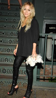 the shoes to wear with leather leggings