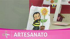 Vida com Arte | Pano de copa com abelinha por Tânia Magali - 17 de junho...
