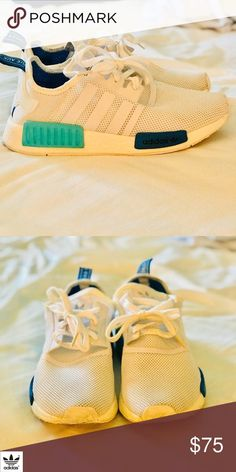 online retailer 47c69 b45d7 White and blue Adidas NMD White and blue Adidas NMD Women s 7.5 adidas  Shoes Sneakers