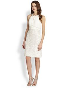 Sue Wong - Embroidered Halter-Style Dress