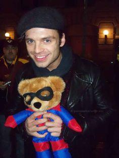 "Sebastian Stan Explains ""Captain America: The Winter Soldier"" With Teddy Bears"
