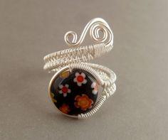 Wire wrapped jewelry handmade ring // by PillarOfSaltStudio