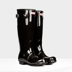 5417667b5201 Original Tall Gloss Black Tall Hunter Boots