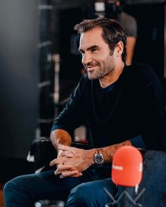 """Mi piace"": 164, commenti: 4 - Roger Federer (@rogerfederer_au) su Instagram: ""Roger in an interview for Tele Zuri """