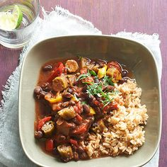 Flavorful vegetarian gumbo makes for a great and easy meal: http://www.bhg.com/recipes/healthy/dinner/healthy-slow-cooker-recipes/?socsrc=bhgpin011814cajunseasonedvegetariangumbo&page=8