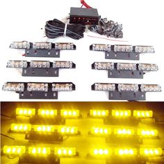 59.99$  Watch now - http://ali11j.worldwells.pw/go.php?t=1489748872 - Free Shipping CSPtek 54 LED Lamp AMBER Strobe Police   Emergency Flashing Warning Light for Car Truck Vehicle 59.99$