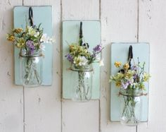 Stupefying Cool Tips: Burlap Farmhouse Wall Decor In The Bedroom outdoor pelican wall decor.NEW…Rustic Farmhouse… Wood Wall Decor…Individual Hanging Mason Jars…Your Choice of Color / PhotoriesNew Rustic Country Wall Decor made of Pine This it Mason Jar Sconce, Hanging Mason Jars, Rustic Mason Jars, Painted Mason Jars, Jar Lamp, Wall Decor Set, Wood Wall Decor, Mason Jar Crafts, Mason Jar Diy