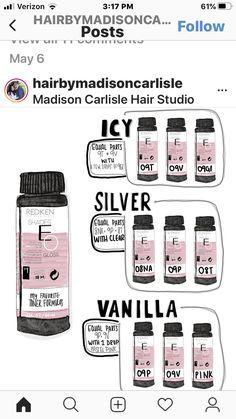 Redken Toner, Redken Hair Color, Redken Hair Products, Hair Color Formulas, Redken Color Formulas, Hair Toner, Hair Color Techniques, Beautiful Hair Color, Hair Color And Cut