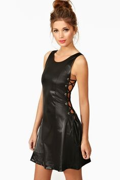 Leather dress, this is hottt