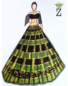 Fashion Illustration Tutorial, Dress Illustration, Fashion Illustration Dresses, Dress Design Sketches, Fashion Design Sketches, Gown Drawing, Fashion Drawing Dresses, Indian Dresses, Types Of Fashion Styles
