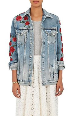 We Adore: The Embellished Denim Jacket from GRLFRND at Barneys New York