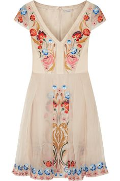 Temperley London | Toledo embroidered silk-blend dress | NET-A-PORTER.COM