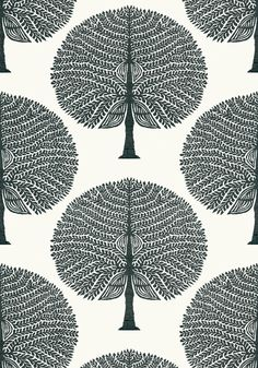 MULBERRY TREE, Black and White, T10602, Collection Ceylon from Thibaut View Wallpaper, Wallpaper Samples, Wallpaper Wallpapers, Black And White Tree, Black And White Wallpaper, Construction Wallpaper, Mulberry Tree, Black Rooms, Made To Measure Curtains