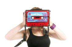"""Magnifica borsa, imitazione audiocassetta - Bag K7 """"HAPPY SOUND"""""""