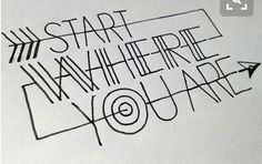 SCRITTA: Start where you are