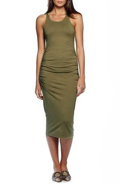 Maybe??? Michael Stars Ruched Side Racerback Midi Dress available at #Nordstrom