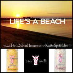 """Life's A Beach"" 1/2 Fresh Juicy Pineapple, 1/2 Beach Breeze  www.PinkZebraHome.com/KatieSprinkles #PinkZebra #Sprinkles #Recipes"
