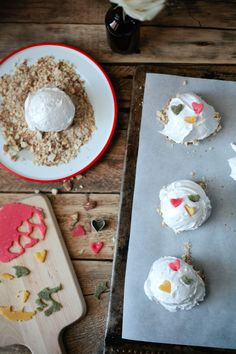 OTTOLENGHI'S PERFECT MERINGUES, WITH MARZIPAN AND TOASTED ALMONDS