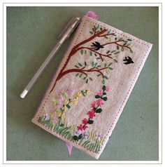 oh, so lovely embroidered book cover