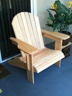 """The famous """"Jake's Chair"""" - more comfortable than traditional adirondack and it stacks!  Free online plans so may be a good winter project for Bobby :)"""