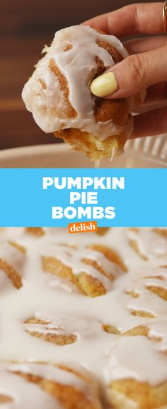 Pumpkin Pie Bombs are THE fall dessert of 2017. Get the recipe from Delish.com.