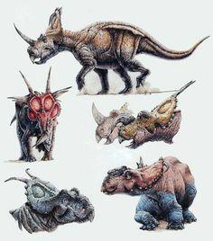 Algunos ceratopsianos