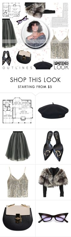 """""""xxxiii. love, vanessa"""" by style-ana ❤ liked on Polyvore featuring Element, Christian Dior, Alice + Olivia, Lolita Lempicka and Chloé"""