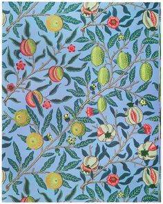Fruit or Pomegranate by William Morris (1834-1896). Original from The MET Museum. Digitally enhanced by rawpixel. | free image by rawpixel.com / The Metropolitan Museum of Art (Source) William Morris Patterns, Motif Vintage, Vintage Bee, Vintage Patterns, Free Printable Art, Fruit Illustration, Paperclay, Arts And Crafts Movement, Free Illustrations