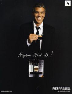 Café E Arte... Campanha publicitária da Nestlé Nespresso tendo como 'garoto propaganda' nada mais nada menos do que esse 'gato'... George Clooney