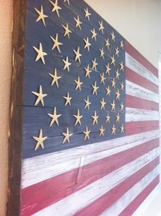 American Flag Wooden Wall Art. via Etsy.