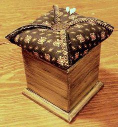 Pin Keep Box ~ A girl can never have too many pin keeps ~ http://piecedpastimes.blogspot.com/2010/02/pin-keep-box.html
