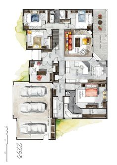 Real Estate Color Floor Plan and Elevation 6 on Behance