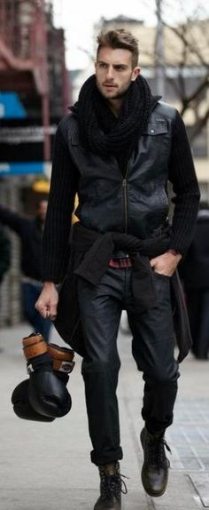 Winter mens fashion New York StreetStyle from Rockstter's Rafael Lazzini (Brazil)