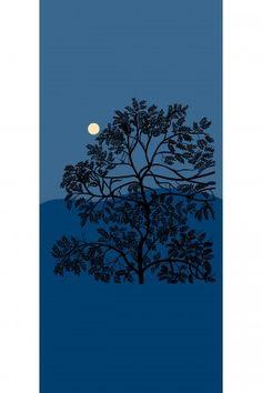 Puu Kuutamossa wallpaper mural