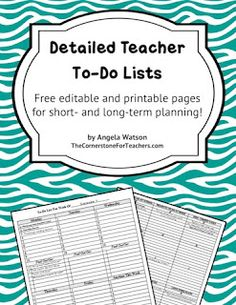 Classroom Freebies Too: Too much to do? Try these prioritized, detailed teacher to-do lists!