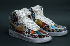 new concept fac4a afac8 Laolu - Hand painted Nike Air Force Ones Air Force 1, Nike Air Force Ones