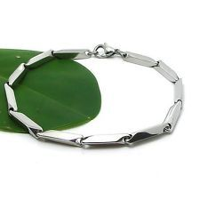 "Stainless Steel Men's/Women's Bracelet 8.2"" Chain Charms Link Fashion Jewelry"