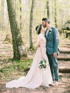 jessica + andrew | Olivia Gown by Peter Som for BHLDN | brooke courtney photography | via: green wedding shoes