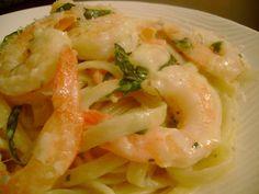 Creamy Lemon & Basil Shrimp Fettucini