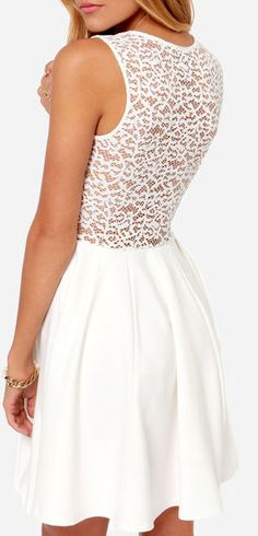 Lace Your Steps White Dress