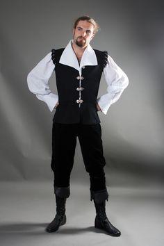 Chevalier Nobles Vest - medieval renaissance vest A lot of this outfit seem a little fancier than I would intend, but the vest cut seem rather nice.