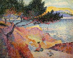 Henri Edmond Cross - The Bay at Cavaliere 1906-1907