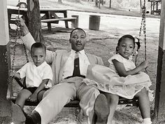 MLK with family.