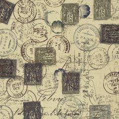 Neutral Correspondance By Holtz, Tim  - 8yds, 100% Cotton, 44/45in