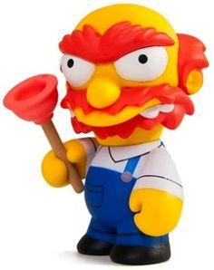 """Groudskeeper Willie"" by Matt Groening / Simpsons Series for Kid Robot The Simpsons Show, Simpsons Art, Robots For Kids, Kids Toys, Biscuit, Living Dead Dolls, Desk Toys, Lego, Vinyl Dolls"